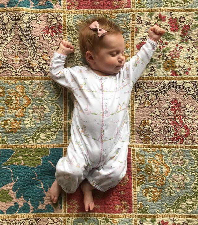 """<p>Is anything more adorable than <a href=""""https://www.instagram.com/p/BfjXwkSgu4U/"""" rel=""""nofollow noopener"""" target=""""_blank"""" data-ylk=""""slk:sweet baby stretches"""" class=""""link rapid-noclick-resp"""">sweet baby stretches</a>?</p>"""