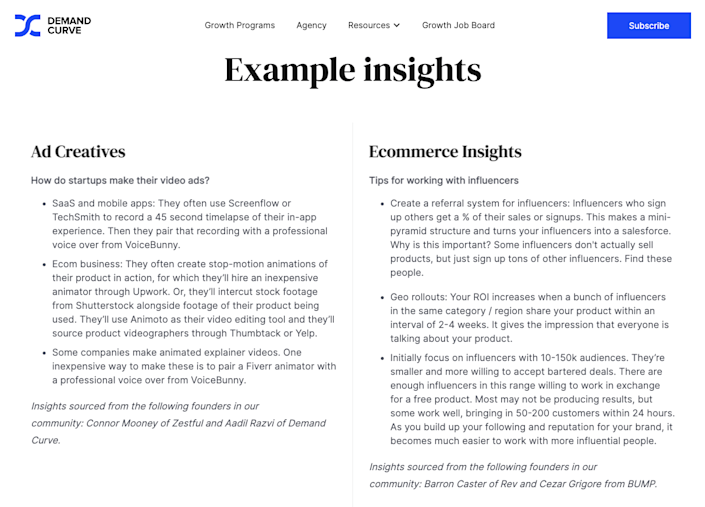 Give samples of your newsletter to prove your quality