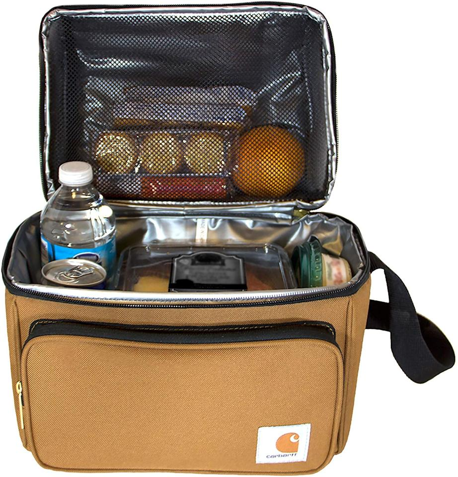 "<p>He can pack his lunch every day with this <a href=""https://www.popsugar.com/buy/Carhartt-Deluxe-Insulated-Cooler-Bag-502389?p_name=Carhartt%20Deluxe%20Insulated%20Cooler%20Bag&retailer=amazon.com&pid=502389&price=25&evar1=savvy%3Aus&evar9=45487565&evar98=https%3A%2F%2Fwww.popsugar.com%2Fsmart-living%2Fphoto-gallery%2F45487565%2Fimage%2F46768145%2FCarhartt-Deluxe-Dual-Compartment-Insulated-Lunch-Cooler-Bag&list1=shopping%2Cgifts%2Choliday%2Cgift%20guide%2Cgifts%20under%20%2425%2Cgifts%20under%20%24100%2Cgifts%20under%20%2450%2Cgifts%20under%20%2475&prop13=mobile&pdata=1"" rel=""nofollow"" data-shoppable-link=""1"" target=""_blank"" class=""ga-track"" data-ga-category=""Related"" data-ga-label=""https://www.amazon.com/Carhartt-Deluxe-Compartment-Insulated-Cooler/dp/B06XFY5NZW/ref=sr_1_10?dchild=1&amp;keywords=gifts+for+men+under+%2450&amp;qid=1571181007&amp;sr=8-10"" data-ga-action=""In-Line Links"">Carhartt Deluxe Insulated Cooler Bag</a> ($25).</p>"