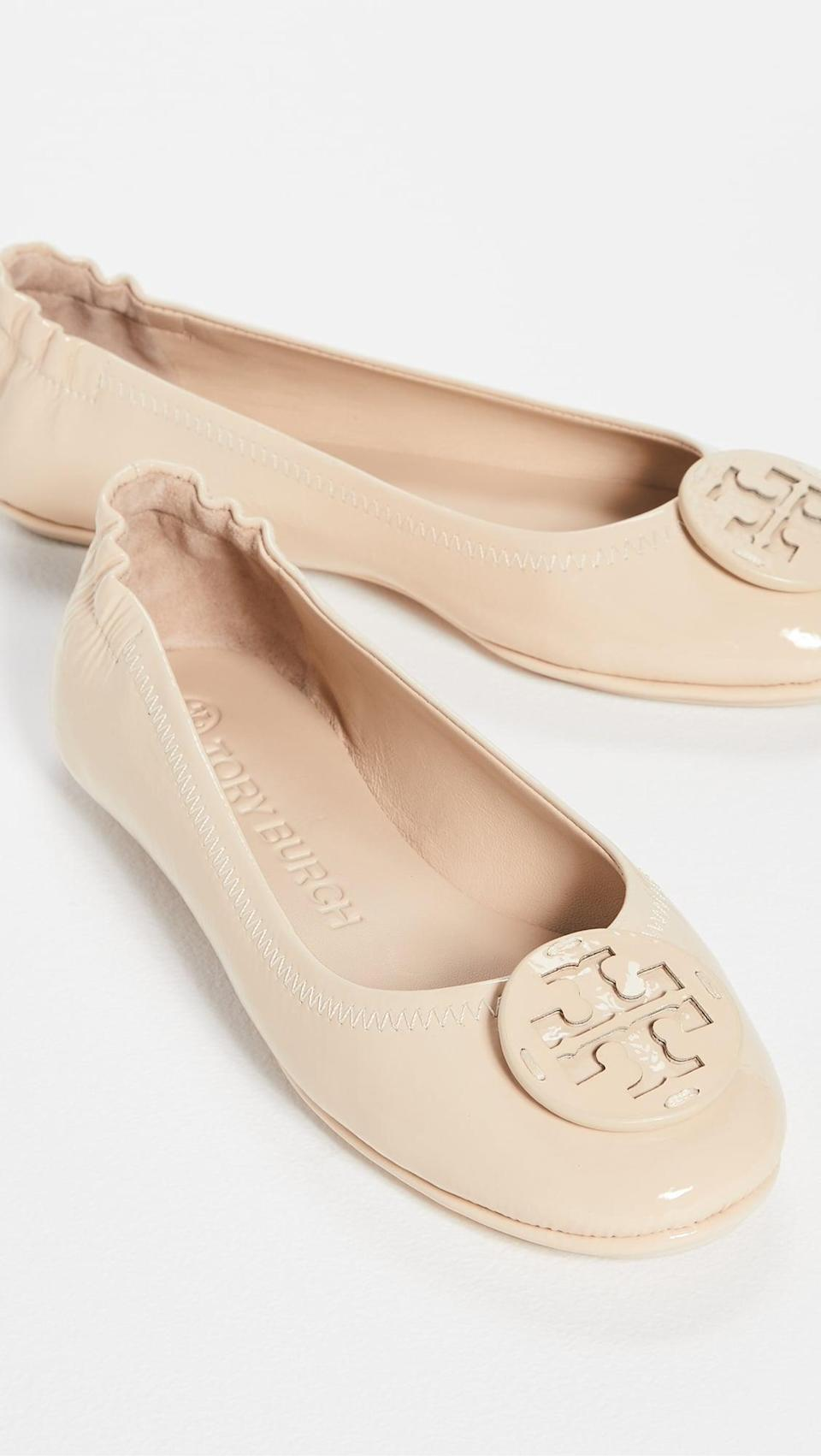<p>These bestselling <span>Tory Burch Minnie Travel Ballet Flats</span> ($228) are always a solid choice.</p>