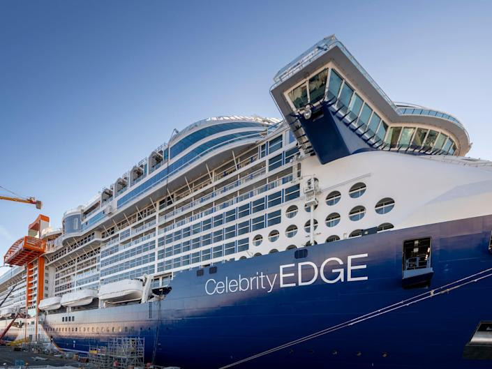the exterior of the Celebrity Edge