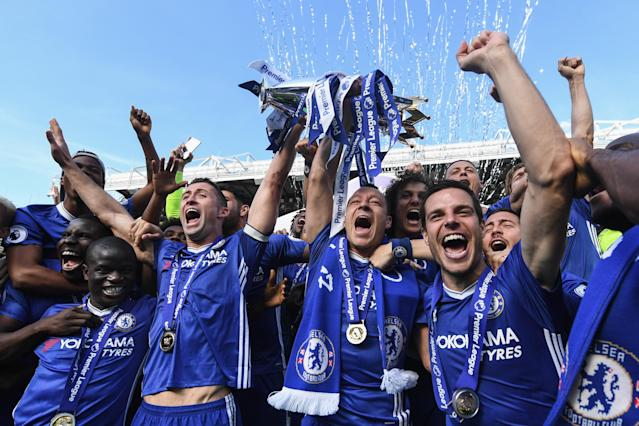 "<a class=""link rapid-noclick-resp"" href=""/soccer/teams/chelsea/"" data-ylk=""slk:Chelsea"">Chelsea</a> won the Premier League for the fifth time in 2017, but the Blues face stiff competition to repeat. (Getty)"