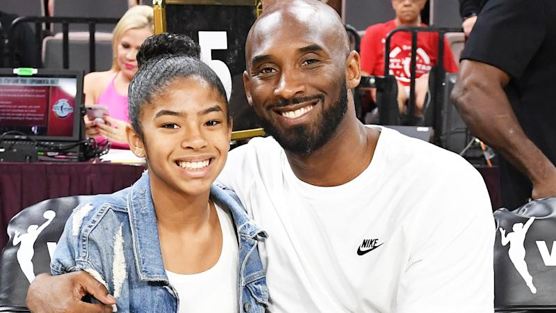 Gianna and Kobe Bryant, pictured here in Las Vegas in 2019.