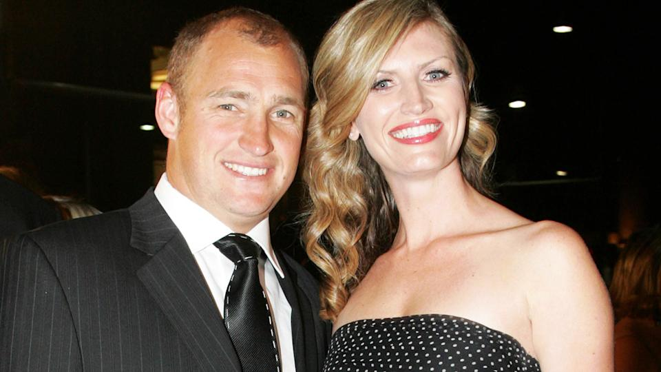 Nathan Brown and wife Tanya, pictured here at the Dally M Awards in 2006.