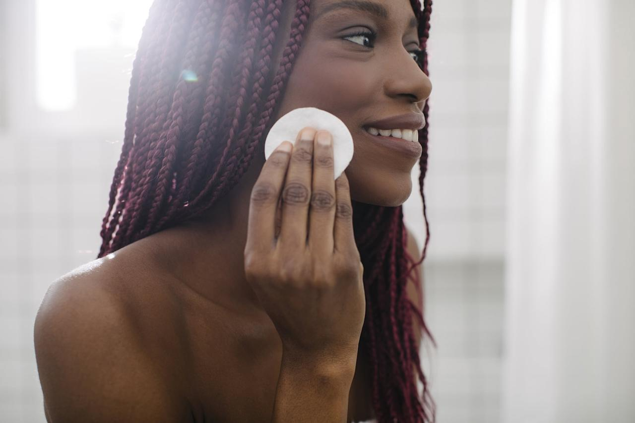 """<p>Exfoliation is the process of removing dead skin cells on the skin. There are two methods in which you can do this: the first is through physical scrubs, which typically contain tiny particles to manually slough off flakes; the second is through chemical exfoliants that frequently come in liquid forms.</p> <p>How can you tell? If you see the word """"acid"""" - like salicylic acid, glycolic acid, lactic acid, and polyhydroxy acid - listed on a product, chances are it's a chemical exfoliant.</p>"""