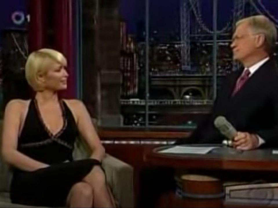 Paris Hilton on The Late Show with David Letterman in 2007 (YouTube/The Late Show with David Letterman)