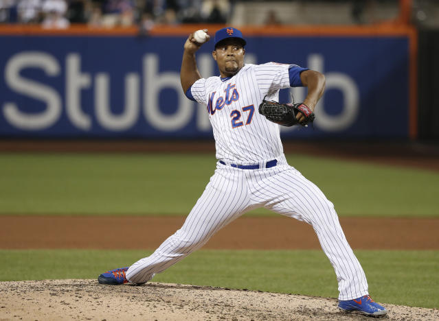 Relief pitcher Jeurys Familia is returning to the New York Mets after a short stint with the Oakland A's. (AP)