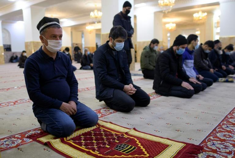 Worshippers still have to observe precautions such as mask-wearing