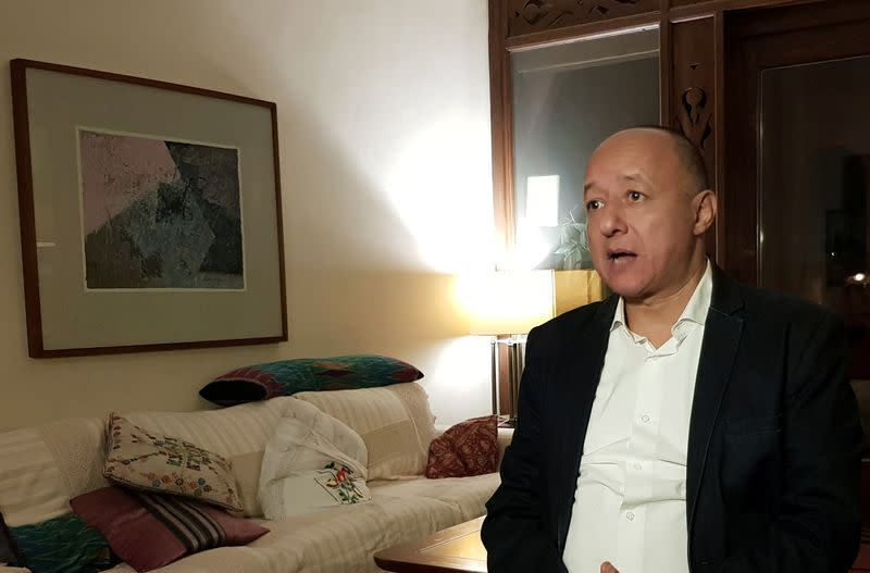 Gasser Abdel Razek, Executive Director of the Egyptian Initiative for Personal Rights (EIPR) speaks during an interview in Cairo