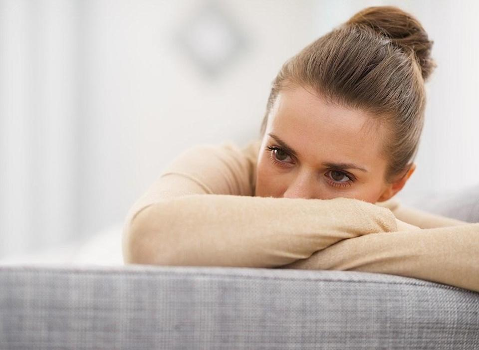 Stressed and upset woman