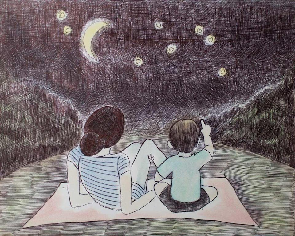 Nikki Addimando created this drawing of herself and her son Ben while serving time at the Dutchess County Jail. She hopes to one day be reunited with her children. / Credit: Michelle Horton/Nicole Addimando