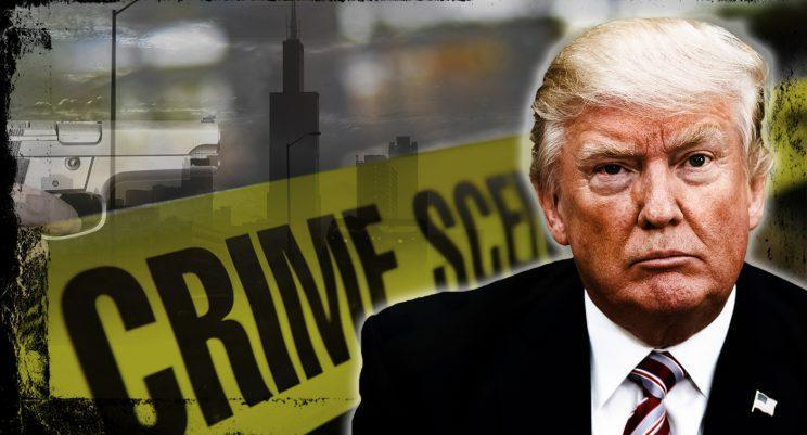 President Trump took credit on Friday for a new initiative to stop gun violence in Chicago. (Photo illustration: Yahoo News; photos: AP, Getty)