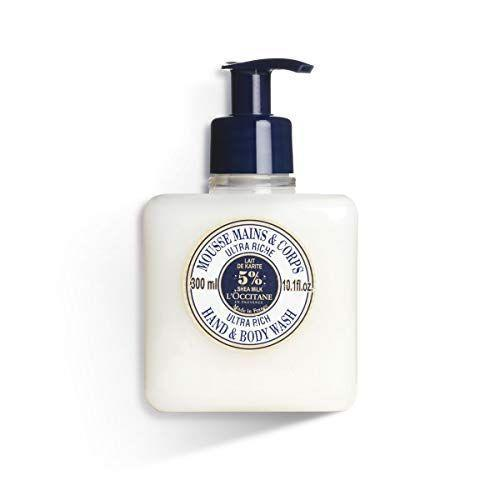 """<p><strong>L'Occitane</strong></p><p>amazon.com</p><p><strong>$20.00</strong></p><p><a href=""""https://www.amazon.com/dp/B00375XT4E?tag=syn-yahoo-20&ascsubtag=%5Bartid%7C10060.g.35049077%5Bsrc%7Cyahoo-us"""" rel=""""nofollow noopener"""" target=""""_blank"""" data-ylk=""""slk:Shop Now"""" class=""""link rapid-noclick-resp"""">Shop Now</a></p><p>When you find yourself with a beautiful bottle of soap, keep the bottle even when the soap is gone. You can take a gorgeous hand soap dispenser and use it for your shampoo instead. </p><p>You'll feel like you're having a luxe experience all the time, and it will save on plastic in the long run if you can buy your liquid soaps and washes in larger quantities. </p>"""
