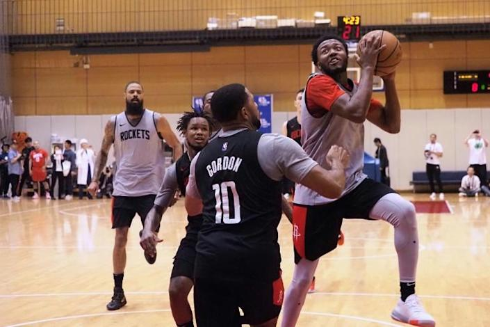 The Houston Rockets are in Japan for two exhibition games and Harden said that remained the team's focus (AFP Photo/Toshifumi KITAMURA)