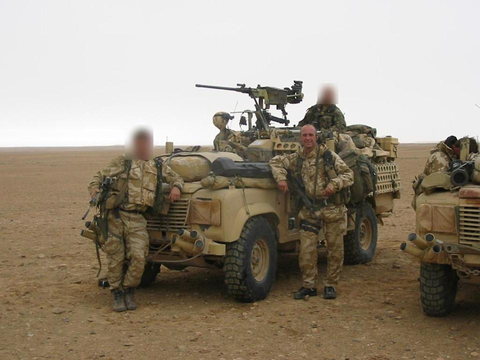 Ian Rivers spent 27 years in the military, including serving with the SAS (Ian Rivers/PA).