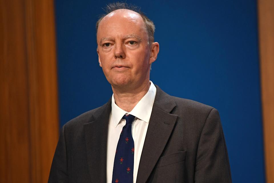 Chief Medical Officer for England Chris Whitty has warned the NHS could face a tough winter. (PA)