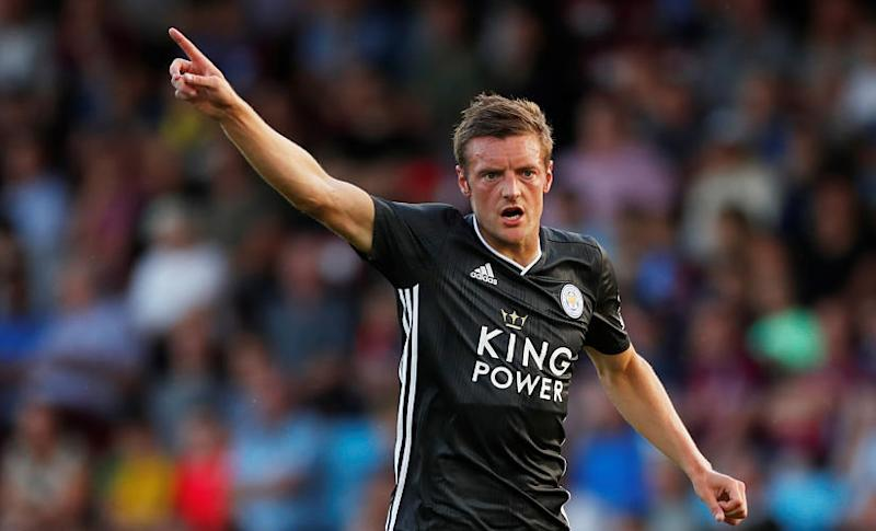 Soccer Football - Pre Season Friendly - Scunthorpe United v Leicester City - Glanford Park, Scunthorpe, Britain - July 16, 2019 Leicester City's Jamie Vardy Action Images via Reuters/Lee Smith - RC1E63AE1B20
