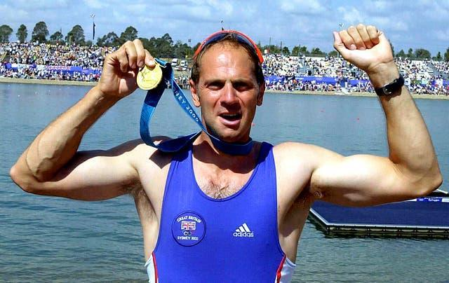 Sir Steve Redgrave celebrates his fifth Olympic title in Sydney