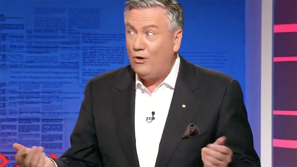 Eddie McGuire has defended his suggestion the AFL was tired of Geelong coach Chris Scott's 'theatrics' in the coaches box. Picture: Channel 9/Footy Classified