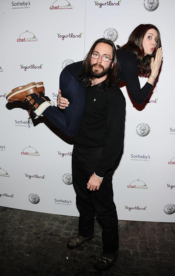 Martin Starr and Alison Brie are seen out and about during the 2012 Sundance Film Festival in Park City, Utah on January 22, 2012.