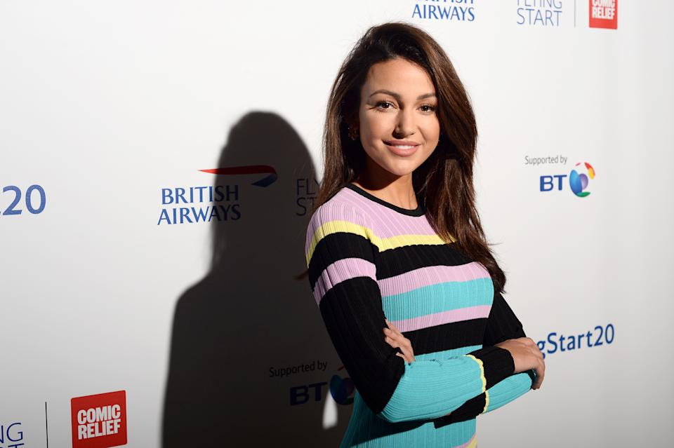 Michelle Keegan attends British Airways champagne reception in November 2018. (Photo by Eamonn M. McCormack/Getty Images for British Airways)