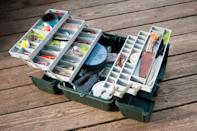 If you can never find the right size of batteries when you need them, it's probably because they're all sprawled out in multiple different drawers and cupboards throughout your home. To save yourself time (and money!), organize them all in a tackle box. There's space for every type and size and you'll never lose them ever again.