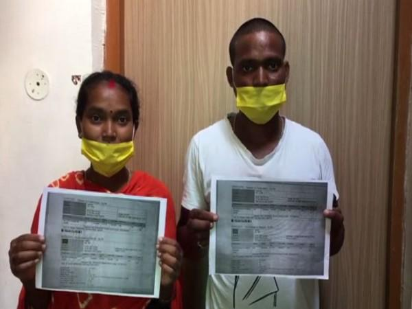 Jharkhand couple who drove 1,200 km to write exam in MP get air ticket for return journey. Photo/ANI