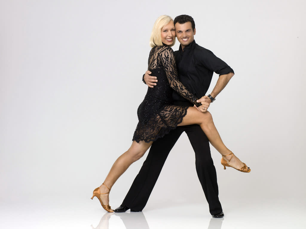 "Martina Navratilova teams with professional dancer Tony Dovolani on Season 14 of ""<a href=""http://tv.yahoo.com/dancing-with-the-stars/show/38356"">Dancing With the Stars</a>."""