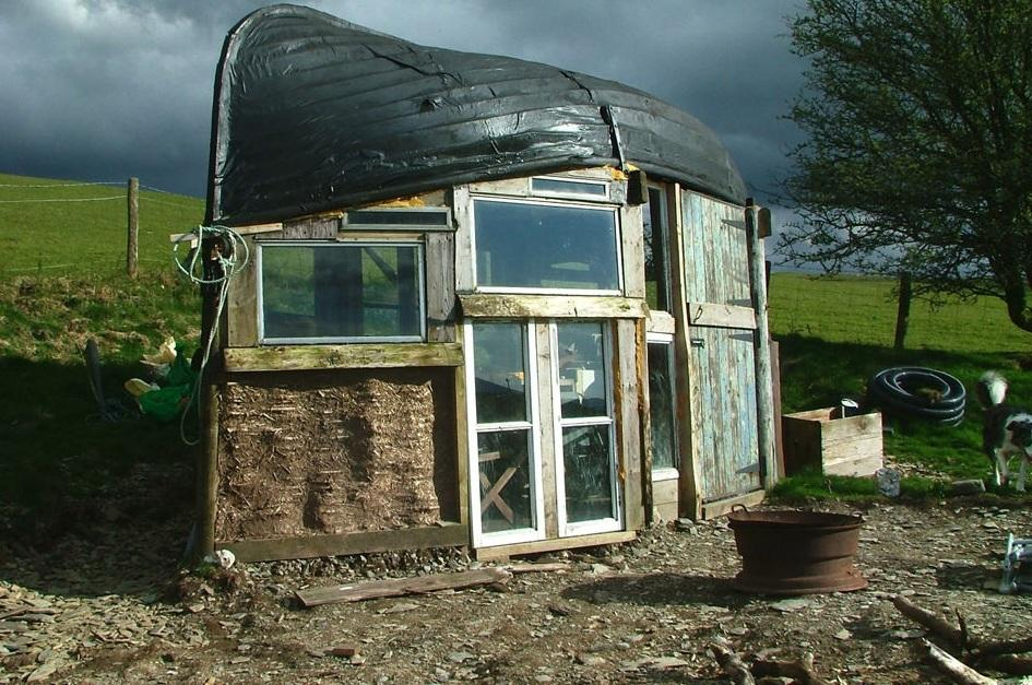 <p>Alex Holland fitted an upturned boat for the roof of his shed in the Cambrian Mountains near Machynlleth (Shed of the Year)</p>