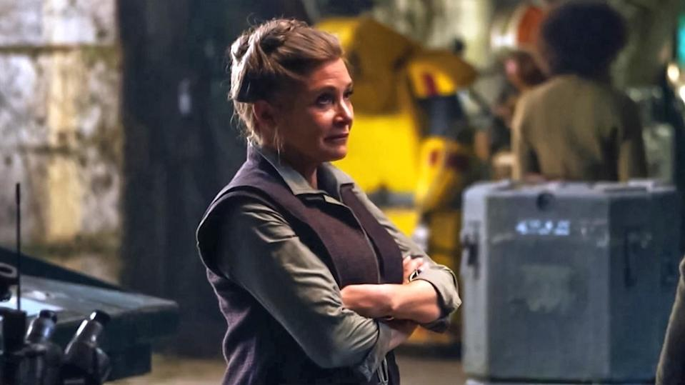 Carrie Fisher as Leia in <i>The Force Awakens.</i> (Photo: Lucasfilm)