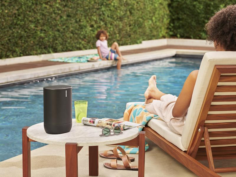The Sonos Move is the smart speaker maker's first portable, outdoor speaker. It will be available in stores Sept. 24th.