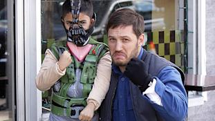 Tom Hardy, right, and a young fan in New York