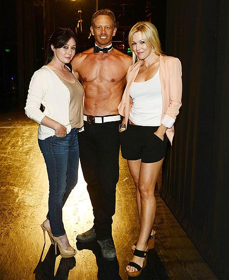 Jennie Garth, Shannen Doherty Reunite With Shirtless Ian Ziering at Chippendales Show: Pictures