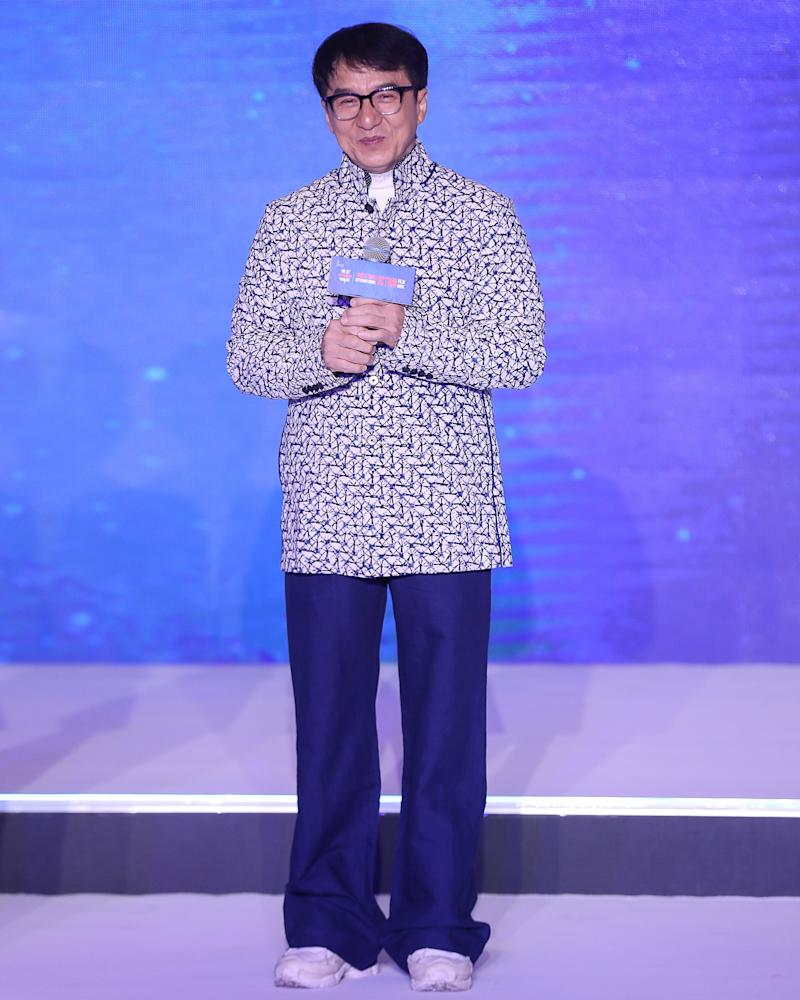 Jackie Chan with quite possibly the biggest fit yet.