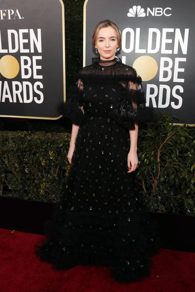 <p>Jodie Comer attends the 76th Annual Golden Globe Awards at the Beverly Hilton Hotel in Beverly Hills, Calif., on Jan. 6, 2019. (Photo: Getty Images) </p>