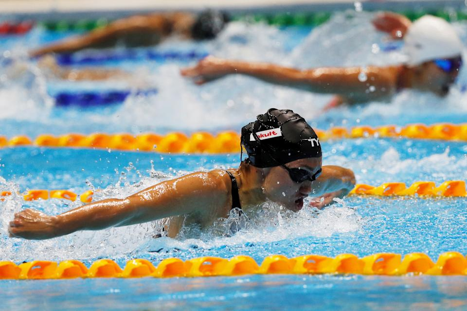 Southeast Asian Games - Aquatics Swimming - Women's 200m Butterfly - Final  - New Clark City Aquatic Center, Clark, Philippines - December 4, 2019   Philippines' Rule Remedy Alexis in action   REUTERS/Soe Zeya Tun