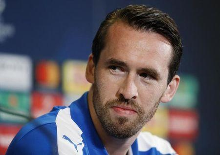 Britain Football Soccer - Leicester City Press Conference - King Power Stadium, Leicester, England - 17/4/17 Leicester City's Christian Fuchs during the press conference Action Images via Reuters / Carl Recine Livepic EDITORIAL USE ONLY.