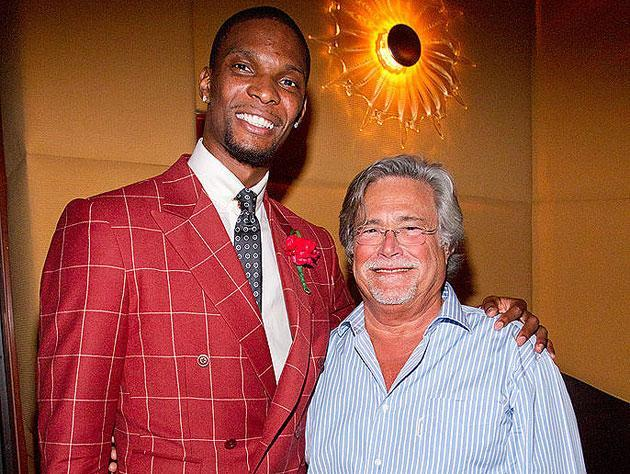 Chris Bosh and Micky Arison. (Getty Images)