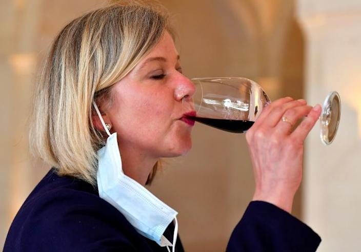 Besides the Grand Hotel, a handful of Bordeaux wineries and regional merchants opened their doors for professional tastings for this year's limited 'En Primeur' event (AFP Photo/GEORGES GOBET)