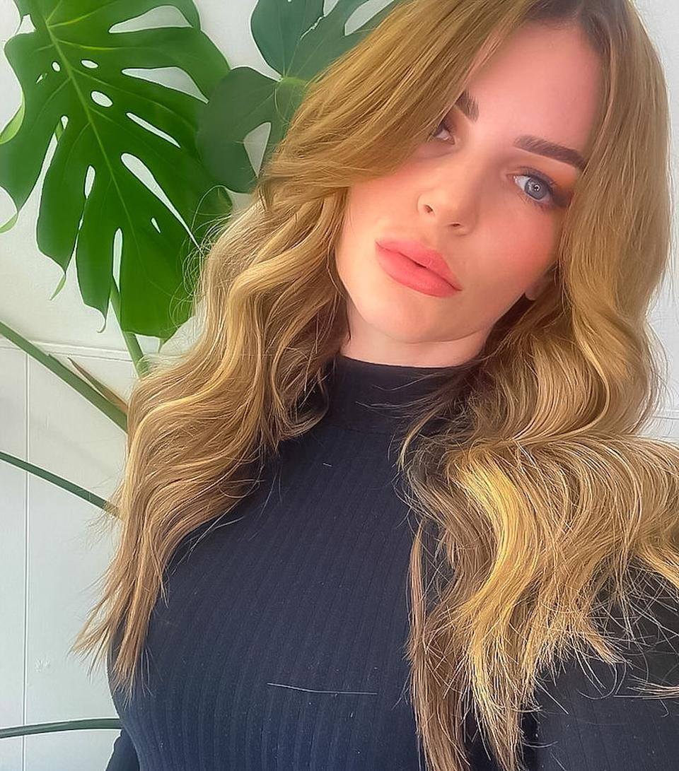 The reality star has undergone a couple of hair transformations this year after dyeing her hair orange and now blonde. Photo: Instagram/TashHerz