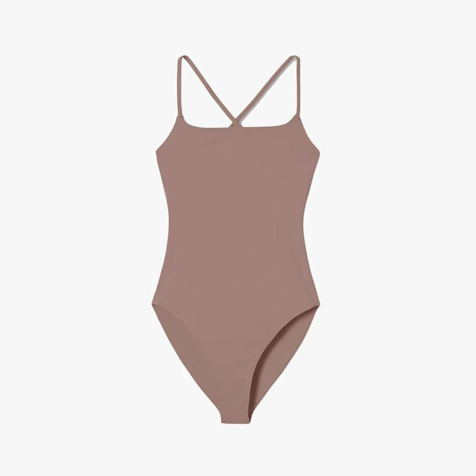 """$78, GIRLFRIEND COLLECTIVE. <a href=""""https://www.girlfriend.com/collections/gf-swim/products/equator-clemente-one-piece#pdp-image-gallery-set-1-5"""" rel=""""nofollow noopener"""" target=""""_blank"""" data-ylk=""""slk:Get it now!"""" class=""""link rapid-noclick-resp"""">Get it now!</a>"""