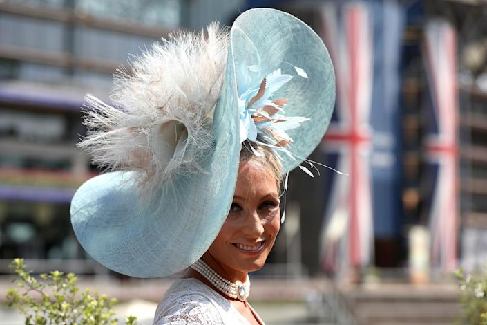 <p>Samantha Gibbs, from Ascot, during day two of Royal Ascot at Ascot Racecourse on June 21, 2017. (Jonathan Brady/PA Images via Getty Images) </p>