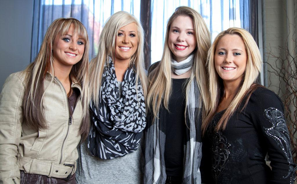 "Leah Messer, Chelsea Houska, Kailyn Lowry, and Jenelle Evans from Season 2 of ""Teen Mom 2.""<br><br>Tune in Tuesday, 8/28 for the series finale of ""Teen Mom"" at 10 PM on MTV."