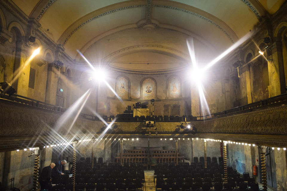 This Grade II listed music hall in Whitechapel, east London, features original cast iron pillars, balcony and decor. [Photo: Getty]