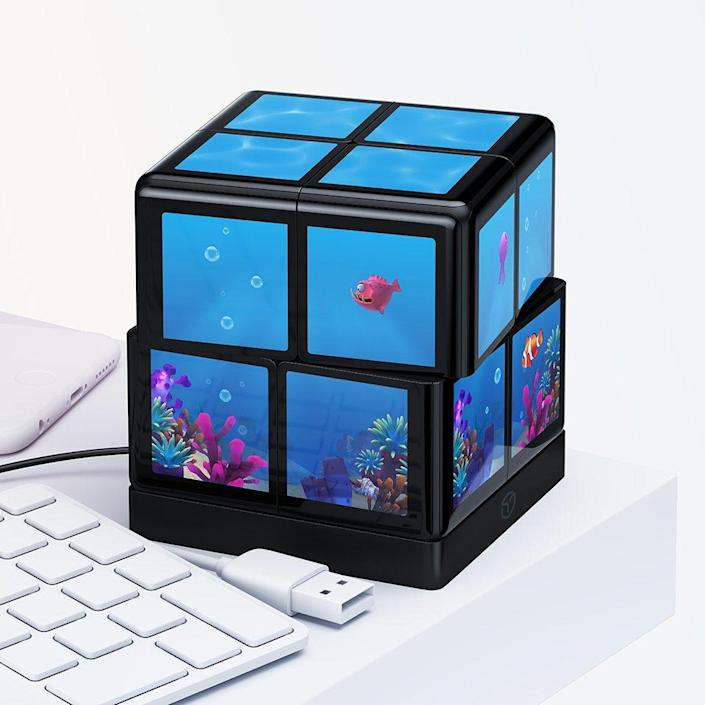 When you're not using it for gaming, you can always use the WowCube as a visually stimulating virtual aquarium.
