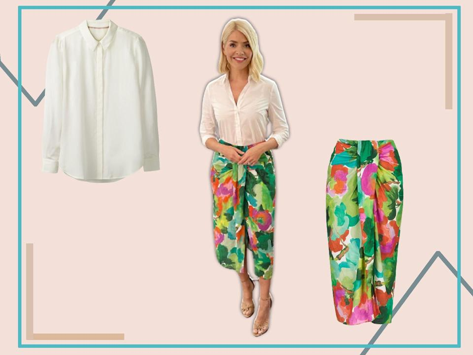 Holly's skirt today will brighten up your wardrobe no end (The Independent)