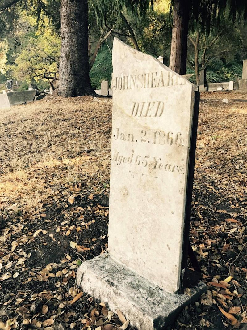 The youngest person to be buried in Evergreen Cemetery from the gold rush days was an infant just 19 days old. Photo: Carly Williams/Be