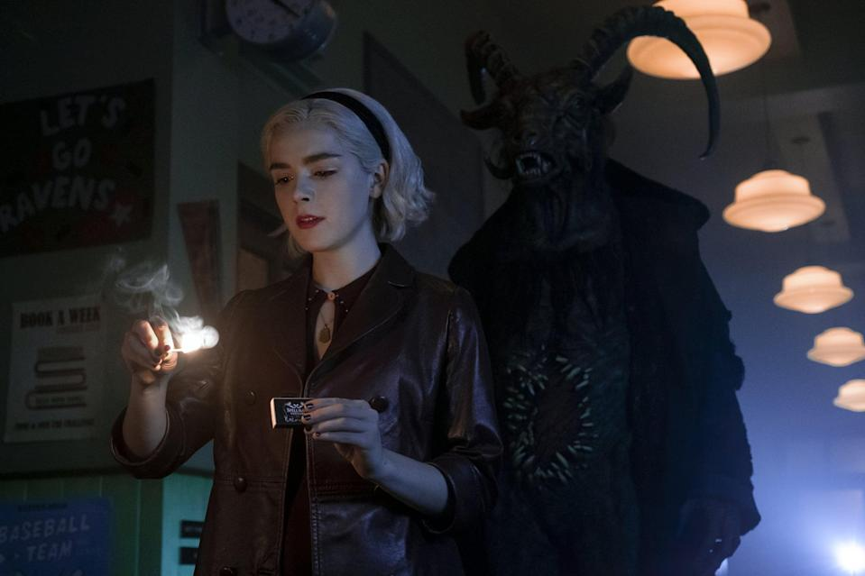 <p><strong>Chilling Adventures of Sabrina</strong> is no horror masterpiece, but it is a fun watch if you're in the mood for something light. If you're above the age of 12, you probably won't be traumatized.</p> <p><strong>Scare factor:</strong> 😱 😱</p>