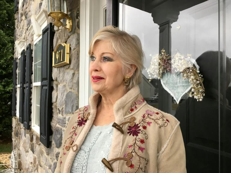 Republican and vaccine-skeptic Betty DeHaven, standing in front of her home in Martinsburg, West Virginia, says it is her right to refuse the Covid-19 vaccine