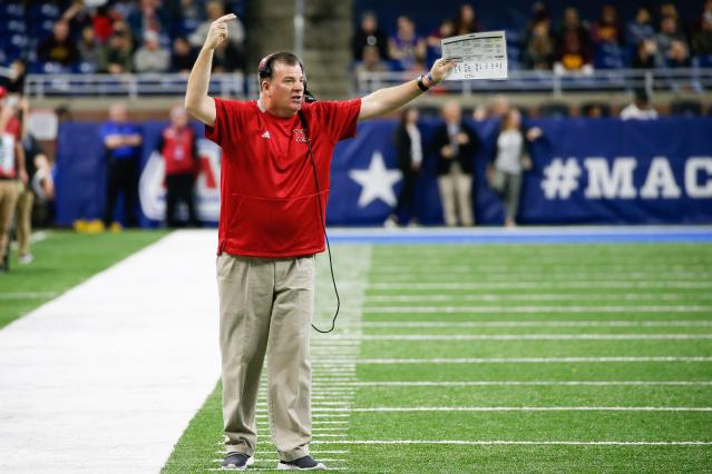 Miami RedHawks head coach Chuck Martin is in his sixth season and has yet to win a bowl game. (Photo by Scott W. Grau/Icon Sportswire via Getty Images)